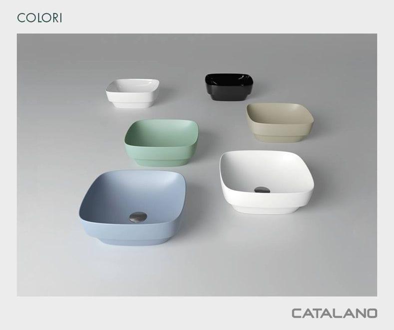 seis lavabos de colores suaves claros de la marca catalano
