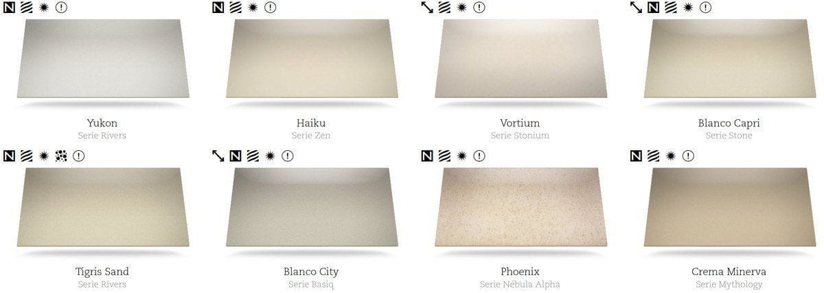 Mercasur estepona colores del silestone mercasur estepona for Silestone precio