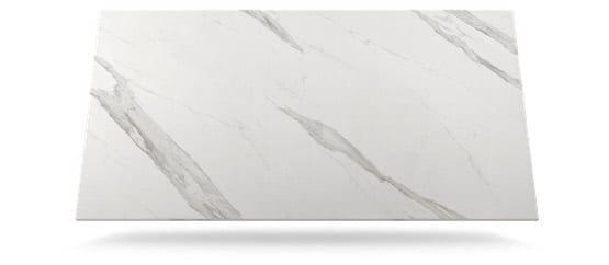 tabla dekton de color blanca con vetas grises claras modelo olimpo