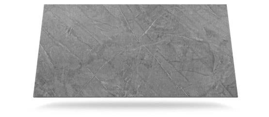 tabla dekton de color gris medio con vetas blancas y grises modelo sogne